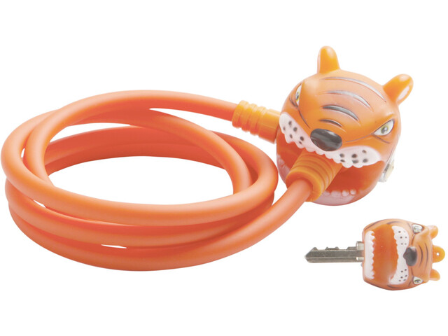 Crazy Safety Tiger Sykkellås 120/8 Orange